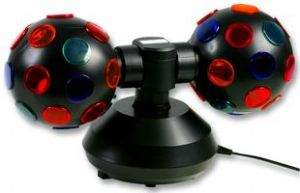 "Double 5"" Rotating Sphere Disco Light Party"